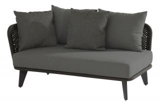This eye-catching modular sofa has an aluminium frame covered by braided rope & comes with deep padded cushions.