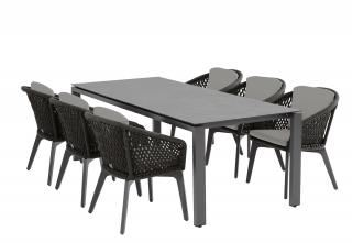 4 Seasons Outdoor Belize 6 Seat Rectangular Goa HPL Dining Set