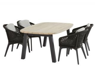 4 Seasons Outdoor Belize 4 Seat Derby Ellipse Dining Set