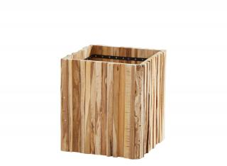 4 Seasons Outdoor Miguel Square Teak Planter - Small