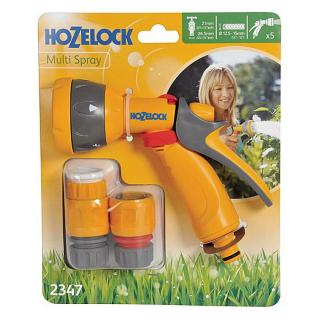 Hozelock Multi Spray Gun. The Hozelock Multi Spray Gun with easy to use flow control saves up to 50% water. Code 2347.