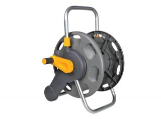 Hozelock Hose Reel 2'n1 60m Garden Hose Reel 2475. 60m capacity manual rewind hose reels supplied with no hose. Includes wall brackets to allow wall mounted or free standing use