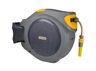 Hozelock Autoreel with 30m Garden Hose. The AutoReel is the ultimate easy to use auto rewind hose reel for small to medium sized gardens.