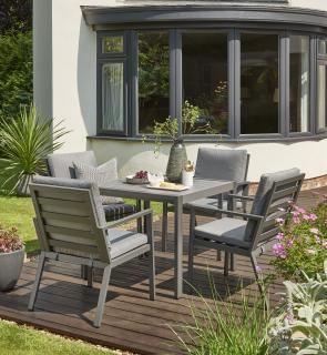 Norfolk Leisure Titchwell 4 Seat Dining Set in Grey