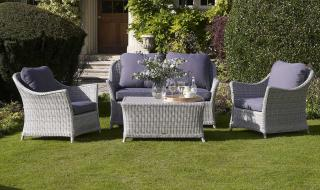 The stylish Monterey Two Seater Sofa Suite will take centre stage in the garden or the conservatory.