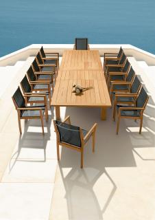 Barlow Tyrie Apex 390cm Extending Teak Dining Set for Fourteen