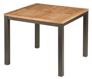 Barlow Tyrie Aura 90cm Dining Table in Graphite