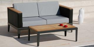 Barlow Tyrie Aura 120cm Low Table with Teak Top