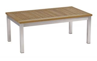 Barlow Tyrie Equinox 100cm Low Table with Teak Top