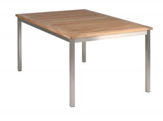 Barlow Tyrie Equinox 150cm Dining Table with Teak Table Top