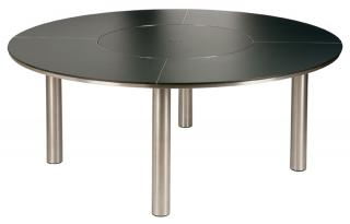 Barlow Tyrie Code 2EQC15.700 The Equinox 150cm Dining Table will accommodate six people.