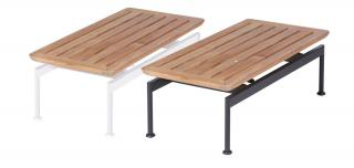 Barlow Tyrie Layout Narrow 80cm Low Table with Teak Top