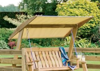 Alexander Rose Polyester Swing Seat Canopy in Oatmeal