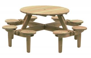 Alexander Rose Code 306. A round 8 seater picnic table.