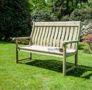 Alexander Rose Code 309. A pine bench with a country feel.