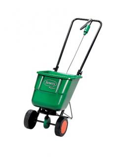 Scotts EasyGreen Rotary Spreader. For quick and easy application of lawn care treatments over large areas.