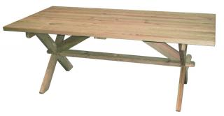Alexander Rose Code 314. Create a rustic look with this pine table.