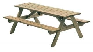 Alexander Rose Pine Woburn Picnic Table 6ft