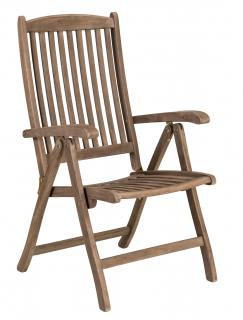 Alexander Rose Code 320S. A garden reclining chair with a painted chestnut finish.