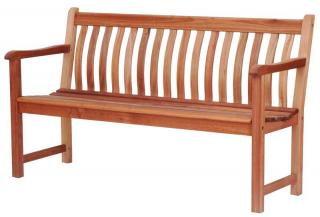 Alexander Rose Code 334B. A stylish curved back bench.