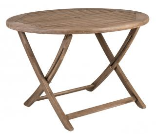 Alexander Rose Code 336S. An easy to store, folding garden table with a painted chestnut finish.