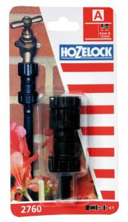Hozelock Automatic Watering Pressure Regulator - 2760. It reduces the pressure of the water to ensure that the micro irrigation system is not over pressurised.
