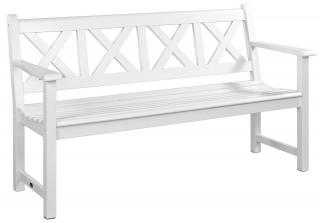 Alexander Rose Code 342W. A stunning Danish designed white bench.