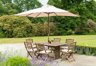 Alexander Rose Sherwood 6 Seat Rectangular Set showing available accessories