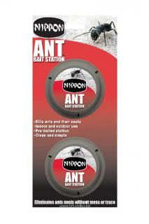 Vitax Nippon Ant Bait Station (Twin Pack). Pre-baited station, clean and simple to use. Eliminates ants nests without mess or trace. Twin Pack.