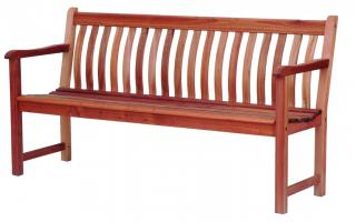 Alexander Rose Code 366B. A warm brown 6ft bench which could be used as a Memorial bench.