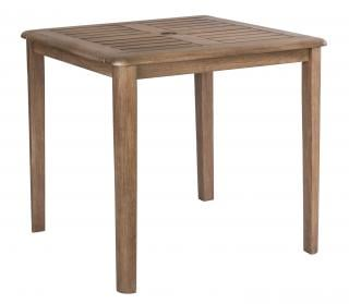 Alexander Rose Code 381S. A robust, square garden table with a painted chestnut finish.