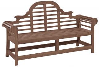 Alexander Rose Code 384B. A classic bench for the garden or patio with a painted finish in chestnut.