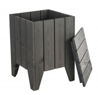 Alexander Rose Bay Lounge Square Planter With Lid