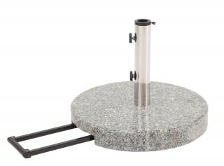 Glatz Granite Parasol Base With Wheels, 40kg