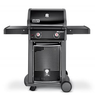 This barbecue has a stylish design & its 2 gas burners will cook for eight.