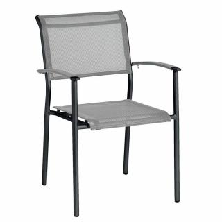 Alexander Rose Portofino Lite Stacking Sling Armchair in Mid-Grey