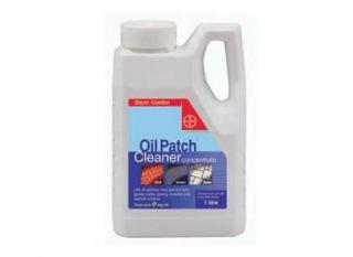 Bayer Oil Patch Cleaner 1 litre. Concentrated cleaner for removing grease and oil stains. Ideal for use on driveways, paths and decking. Also removes dried on dirt.