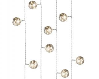 These filigree balls create a beautiful effect when lit & come in a choice of copper or silver colour.