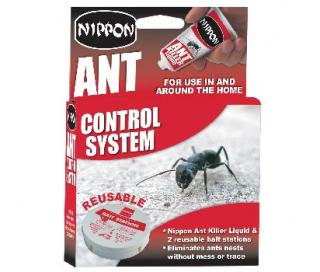 Vitax Nippon Ant Control System. Refillable ant traps quickly eliminates ants and their nests without trace. 25g & 2 Traps.