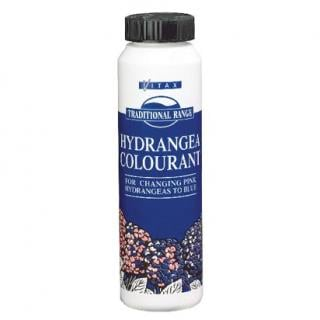 Vitax Hydrangea Colourant. For changing pink hydrangeas to blue. 250g Shaker.