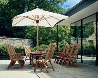 Barlow Tyrie Napoli 3.5m Rectangular Parasol with 6cm Telescopic Pole
