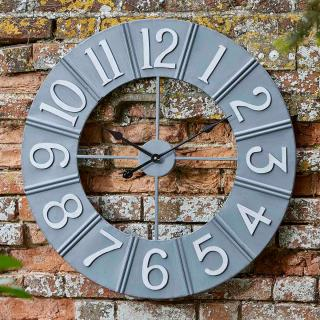 This contemporary metal wall clock is easy to read & fully weather resistant for in or outdoor use.