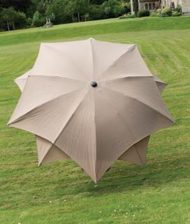 Norfolk Leisure 2.7m Round Lotus Parasol - Taupe