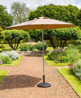 Norfolk Leisure 2.7m Round King Parasol in Taupe
