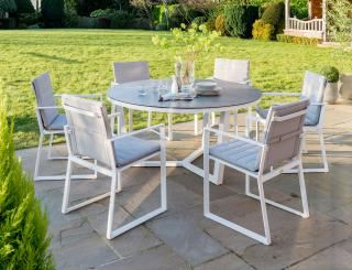 LIFE Outdoor Living 6 Seat Round Dining Set