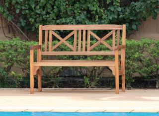 This 2 seat wooden garden bench is ideal if you are short of storage space.