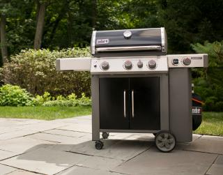 A 3 burner BBQ from Weber combining the GS4 grilling system with the versatility of a Gourmet BBQ system grate, side burner & sear burner.