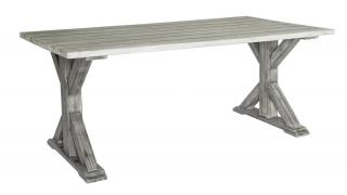 Alexander Rose Code 616. A rectangular hardwood backless bench with a natural aged look.