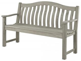 Alexander Rose Code 618. An attractive solid wood bench with a grey painted finish for the garden or patio.