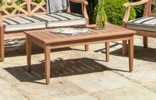 Alexander Rose Code 624. A rectangular hardwood coffee table which is designed for the Heritage range.